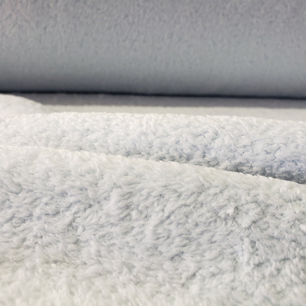Ultra Soft Ice White Blue Fleece - 1/2 meter - FABCYCLE shop