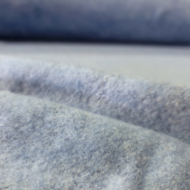 Fleece  - Ice Blue- 1/2 meter - FABCYCLE shop