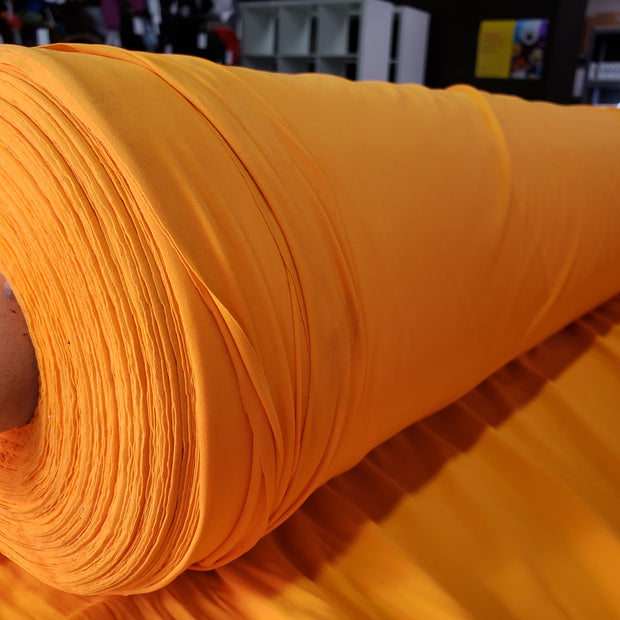 Polyester Elastin Jersey- Neon Orange- 1/2 meter - FABCYCLE shop