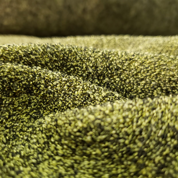 2 Textures fleece - Mix Green - 1/2 meter - FABCYCLE shop