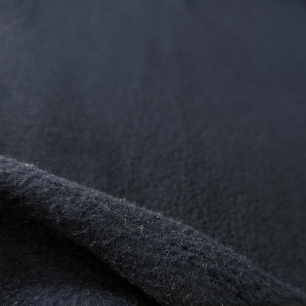Fleece Medium Weight  - Navy  - 1/2 meter - FABCYCLE shop