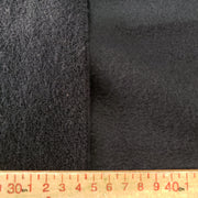 Terry Fleece Thick - Black - 1/2 meter