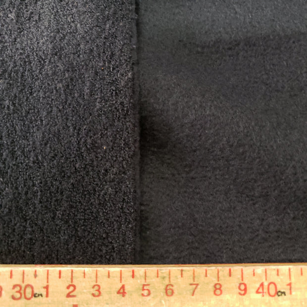 Terry Fleece Thick - Black - 1/2 meter - FABCYCLE shop