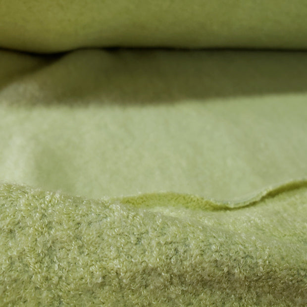 Terry Fleece Thick - Bright Light Green - 1/2 meter