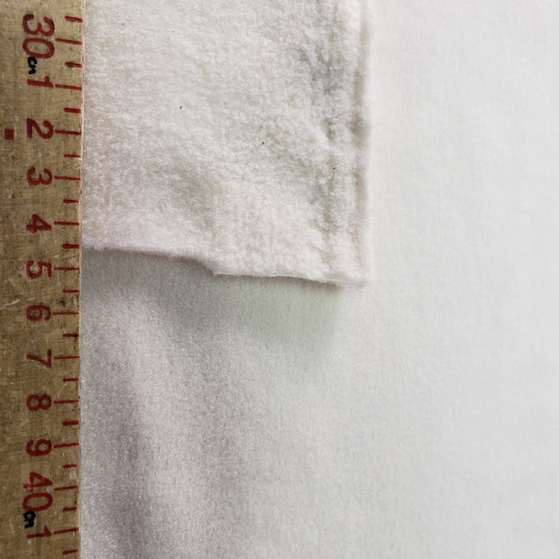 Thick Soft Fleece - Off White - 1/2 meter - FABCYCLE shop