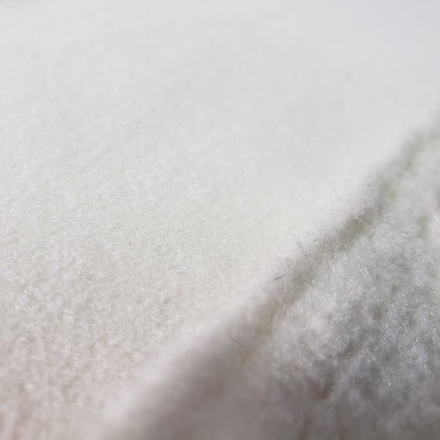 Thick Soft Fleece - Off White - 1/2 meter
