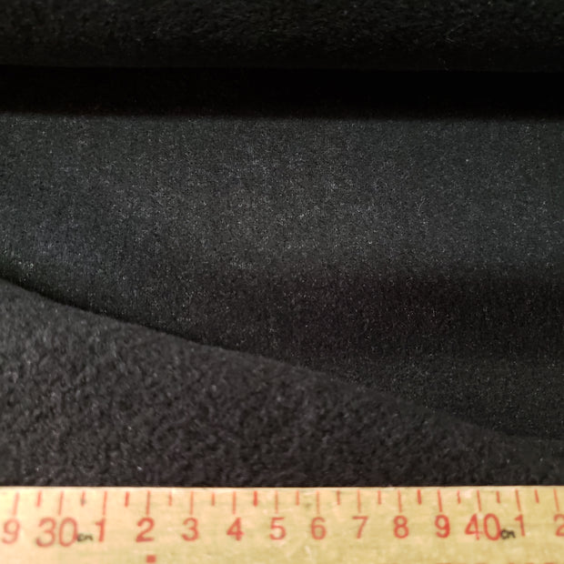 Felt Fleece  - Black- 1/2 meter