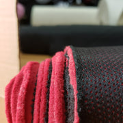 Fleece/Mesh 2 sided - Red Fleece / Black Beck - 1/2 meter - FABCYCLE shop