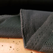 Fleece/Mesh 2 sided - Black Fleece / Black Beck - 1/2 meter - FABCYCLE shop