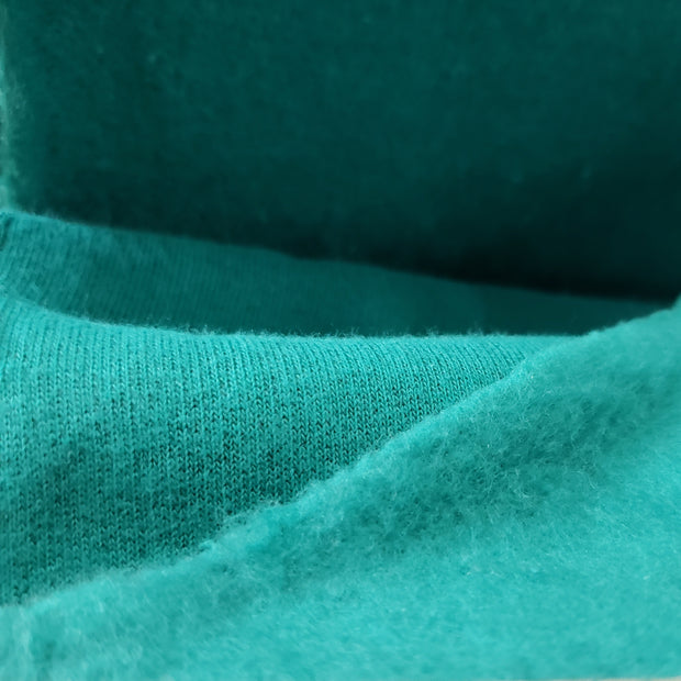 Fleece - Soft Green   - 1/2 meter - FABCYCLE shop
