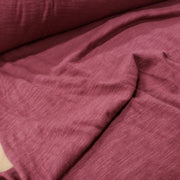 Organic Cotton Bamboo Slub - Burgundy - 1/2 meter - FABCYCLE shop