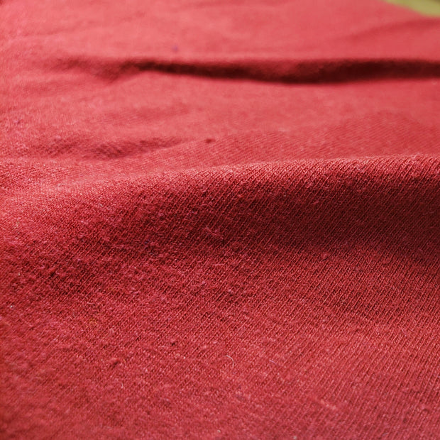 Hemp/ Organic Cotton / Spandex - Red - FABCYCLE shop