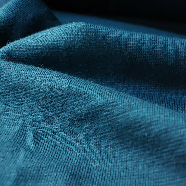 Hemp / Organic Cotton / Spandex - Smoked Teal - FABCYCLE shop