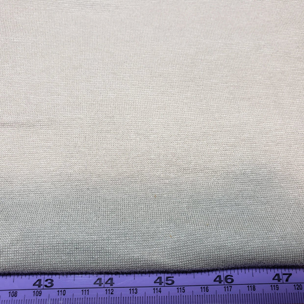Bamboo and Cotton Stretch Blend Mini Ribbed -  LightGrey - 1/2 meter - FABCYCLE shop
