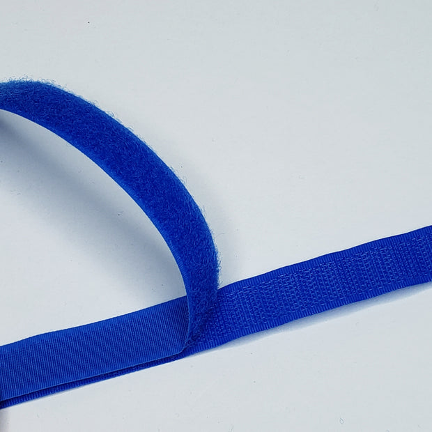 "3/4"" Sew On Velcro - Blue - 1 Meter"