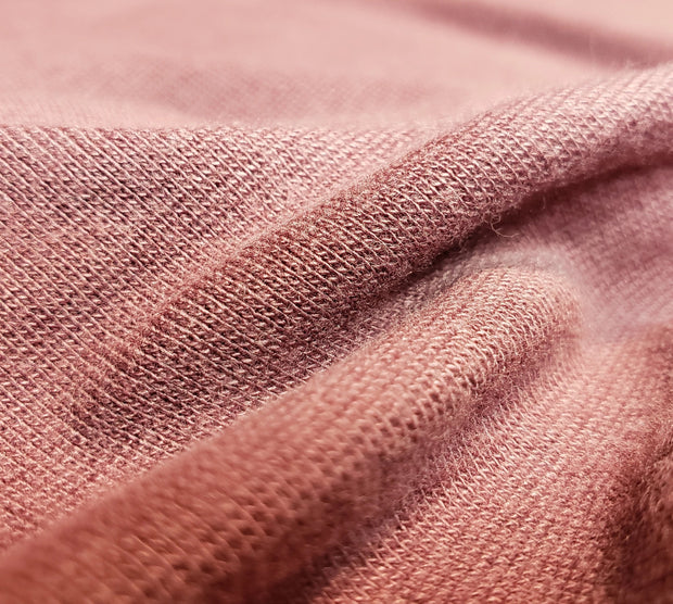 Bamboo and Cotton Stretch Blend Mini Ribbed -  Minimalist Pink - 1/2 meter - FABCYCLE shop