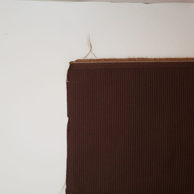 Piped Chocolate Gold - Cotton Woven Upholstery - Brown - 1/2 Meter