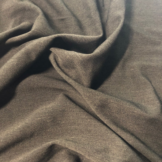 Stretch Twill Suiting - Charcoal  - 1/2 meter - FABCYCLE shop