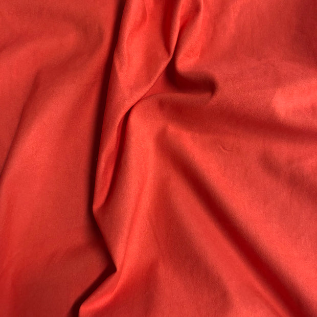 Stretch Twill Weave - Bright Salmon  - 1/2 meter