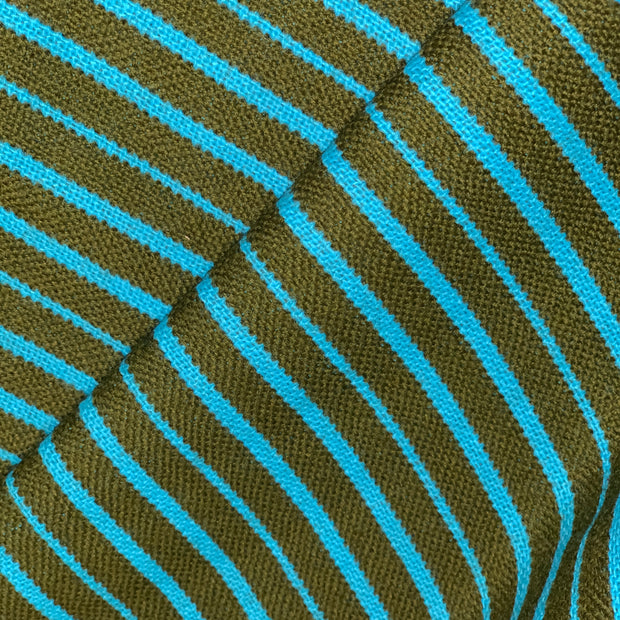 Turquoise Serape - Turquoise & Green Woven  - 1/2 meter - FABCYCLE shop