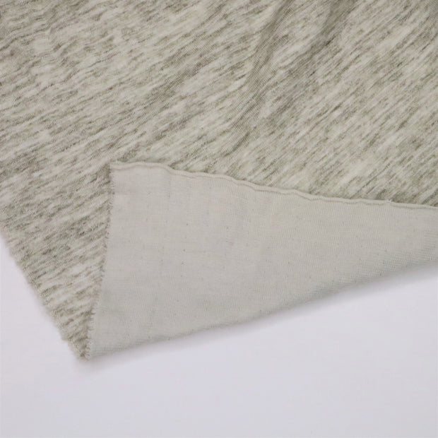 Barn Owl - Bamboo Cotton Spandex Knit - Green / Beige - 1/2 Meter