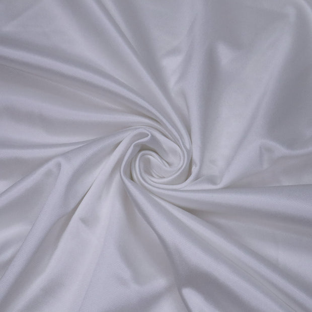 Ice Princess - Polyester Fleece Knit - Metallic White - 1/2 Meter