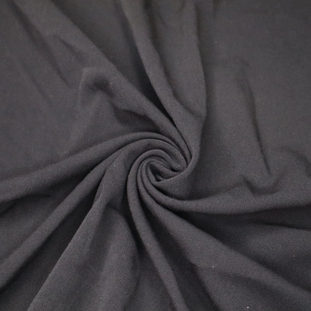 Night Before Christmas - Cotton Polyester Spandex Knit - Black - 1/2 Meter