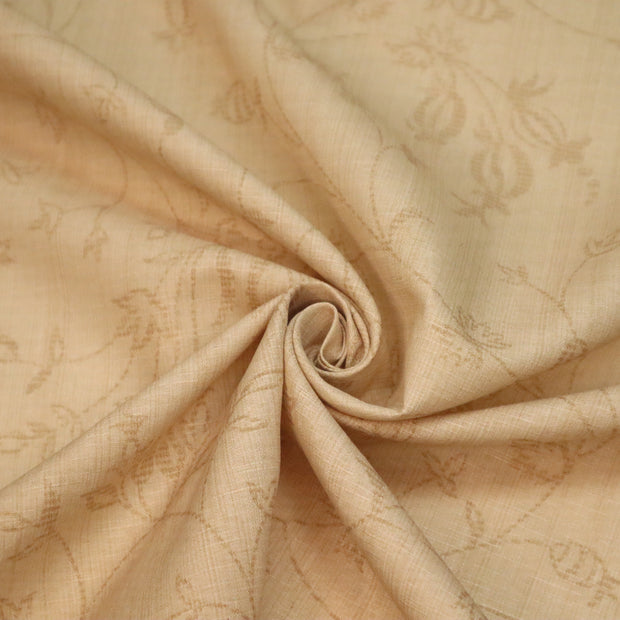 Enchanted Castle Motif - Polyester Woven - Beige - 1/2 Meter