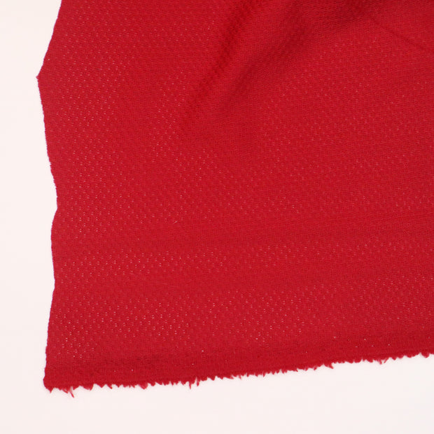Santa's Gym Shorts - Double Woven Polyester Jersey Knit - Red - 1/2 Meter