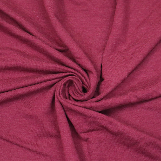 Dried Cranberries - Bamboo Rayon Terry Knit - Deep Red - 1/2 Meter