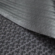 Studio Time - Polyester Woven / Faux Leather Backing - Black - 1/2 Meter