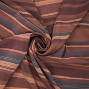 Chocolate Stripes - Polyester Woven - Brown / Beige / Black - 1/2 Meter