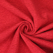 Lady in Red - Double Layered Polyester Satin Knit - Red / White - 1/2 Meter