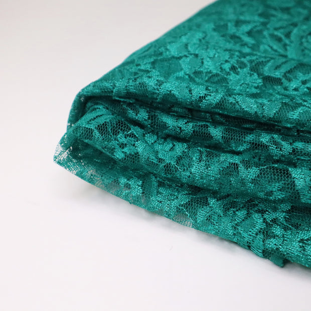 Emerald Treasure - Polyester  Lace Knit - Dark Green - 3.40M Bundle