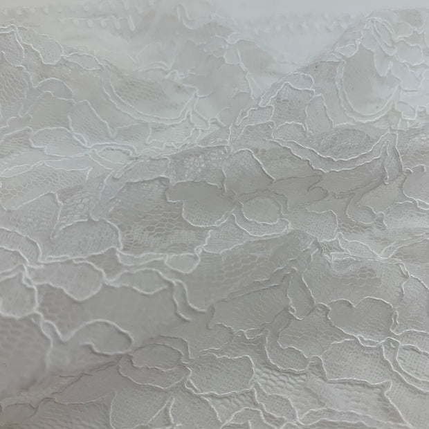 White Floral - Lace Knit - 1/2 Meter