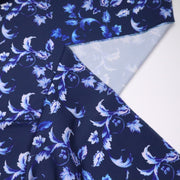 Botanical Trench - Poly Blend Woven - Blue - 1/2 Meter