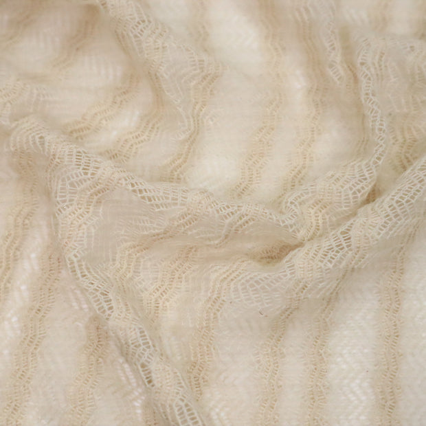 Drapey Lace - Cotton/Poly Lace Knit - Beige - 1/2 Meter