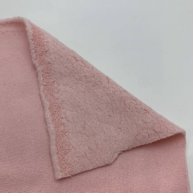 Bunny Nose - Cotton Knit Fleece  - Soft Pink - 1/2 Meter
