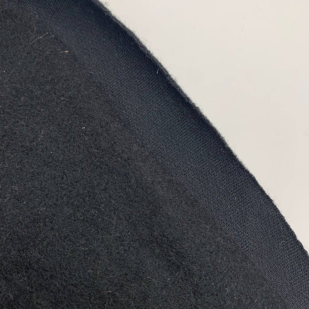 Charred - Fleece - Cotton Tubular - Black - 1/2 Meter