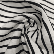 Beetlejuice on the Beach- Nylon-Cotton Woven - Stripes - 1/2 Meter