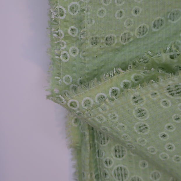 Bubble Party  - Cotton Woven - Green Polka Dots - 1.23M Bundle