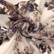 December 6: Marilyn's Wallpaper - Polyester Chiffon Woven - Ivory / Purple / Pink - 1/2 Meter