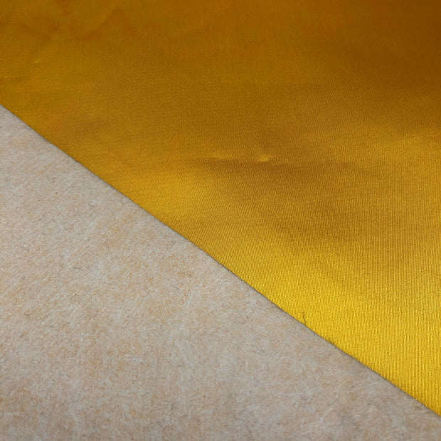 Lemon Zest - Polyester Satin Woven w/ Paper Backing - Yellow - 1/2 Meter