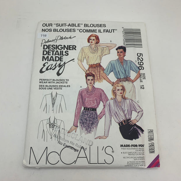 Sewing Pattern McCall's 5296