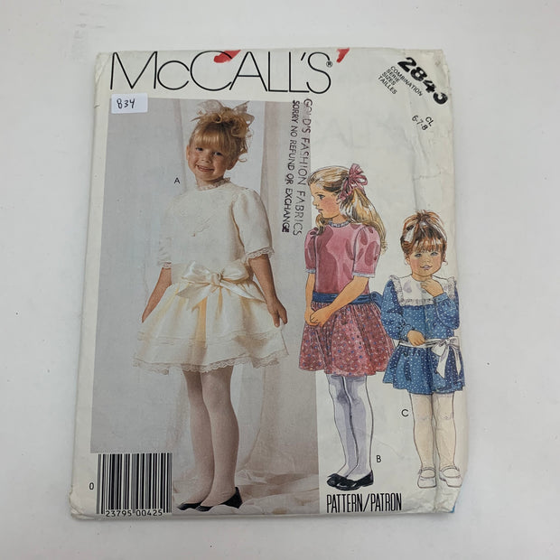 Sewing Pattern McCall's 2843