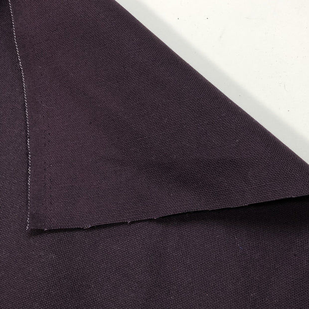 A Colour Purple - Cotton Canvas Woven - Dark Purple - 1/2 Meter