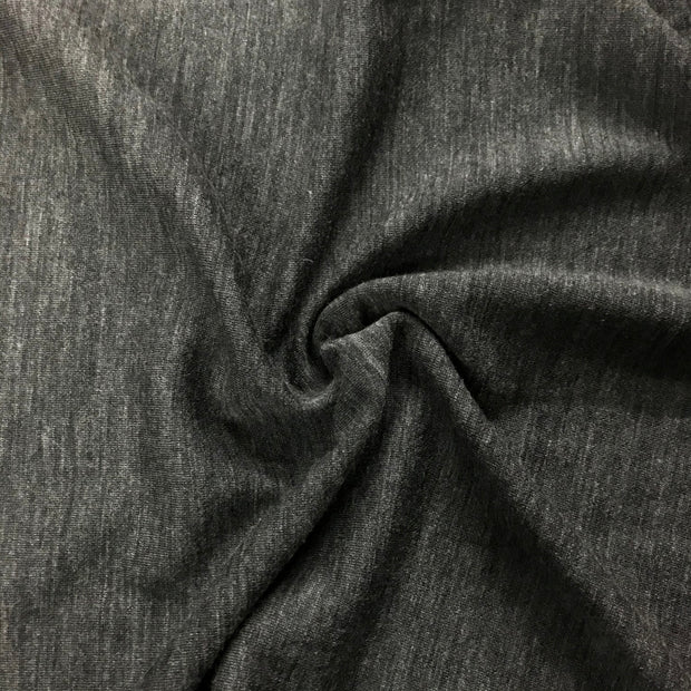 Charcoal Heather Grey -  Knit - 1/2 meter - FABCYCLE shop