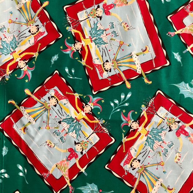 Christmas Dancer - Cotton Woven - 1/2 meter - FABCYCLE shop