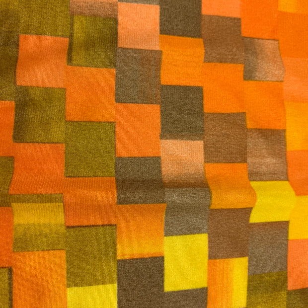 Solar Squares - Synthetic Knit - 1/2 Meter