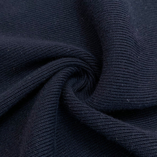 Deep Ravine - Rib Knit - Navy Blue - 1/2 Meter